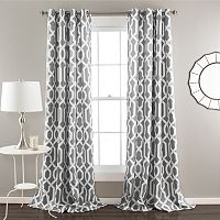 Lush Decor Edward 2-pk. Room Darkening Window Curtains