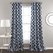 Lush Decor 2-pack Edward Room Darkening Window Curtains