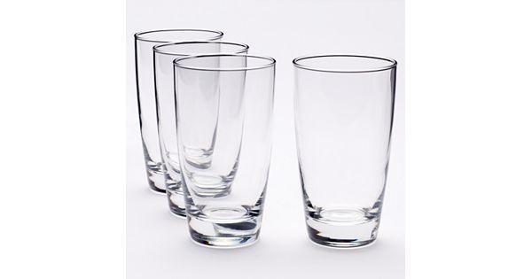 Food Network Signature 4 Pc Crystal Highball Glass Set