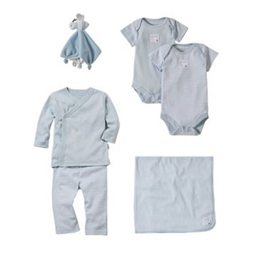 Baby Boy Burt's Bees Baby Organic Receiving Set