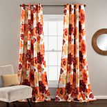 Lush Decor Leah 2- Pack Room Darkening Window Curtains