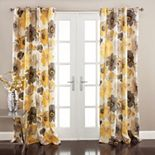 Lush Decor Leah 2- Pack Room Darkening Window Curtains