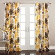 Lush Decor Leah 2 pkRoom Darkening Window Curtains - 52'' x 84''