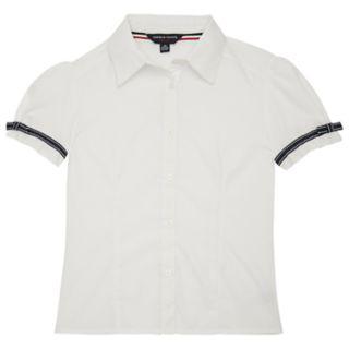 Girls 4-20 French Toast School Uniform Ribbon Bow Shirt