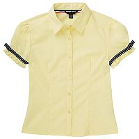 Girls 4-20 French Toast School Uniform Ribbon Bow Shirt