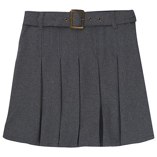 Girls 4-20 & Plus Size French Toast School Uniform Belt Pleated Skort