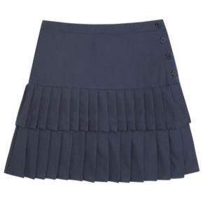 Girls 4-20 French Toast School Uniform Tiered Pleated Skort