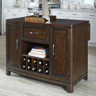 Home Styles Crescent Hill Granite Top Kitchen Island
