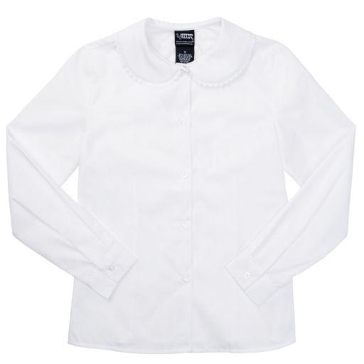 Girls 4-20 French Toast School Uniform Lace-Trim Peter Pan Collar Blouse