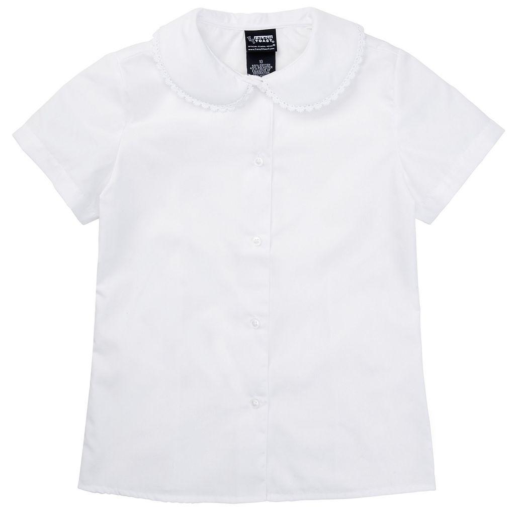 Girls 7-20 French Toast School Uniform Peter Pan Collar Top