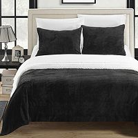 Evie Plush Microsuede & Sherpa 3 pc Reversible Comforter Set