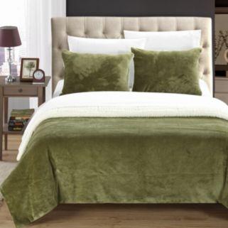 Evie Plush Microsuede & Sherpa 3-pc. Reversible Comforter Set