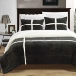 Chloe Plush Microsuede & Sherpa 3 pc Reversible Comforter Set