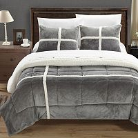Chloe Plush Microsuede & Sherpa 3-pc. Reversible Comforter Set