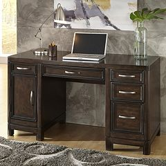 Home Styles Crescent Hill Pedestal Desk
