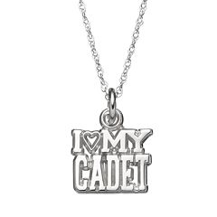 LogoArt Sterling Silver 'I Love My Cadet' Pendant Necklace