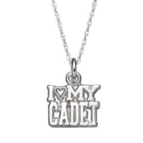 "LogoArt Sterling Silver ""I Love My Cadet"" Pendant Necklace"