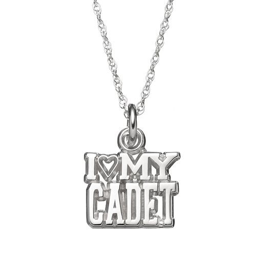 "LogoArt Sterling Silver ""I Love My Cadet"" Pendant Necklace"