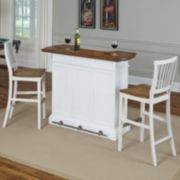 Home Styles 3-piece Americana White Bar & Stools Set