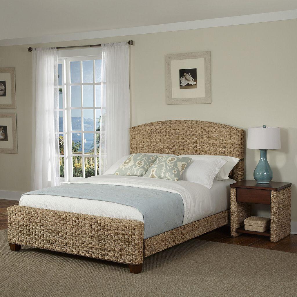 Home Styles 3-piece Cabana Banana II Bed and Nightstand Set