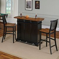 Home Styles 3 pc Americana Bar & Stools Set