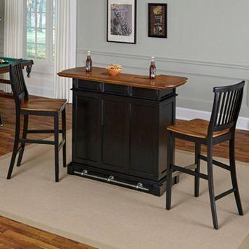 Home Styles 3-piece Americana Bar & Stools Set