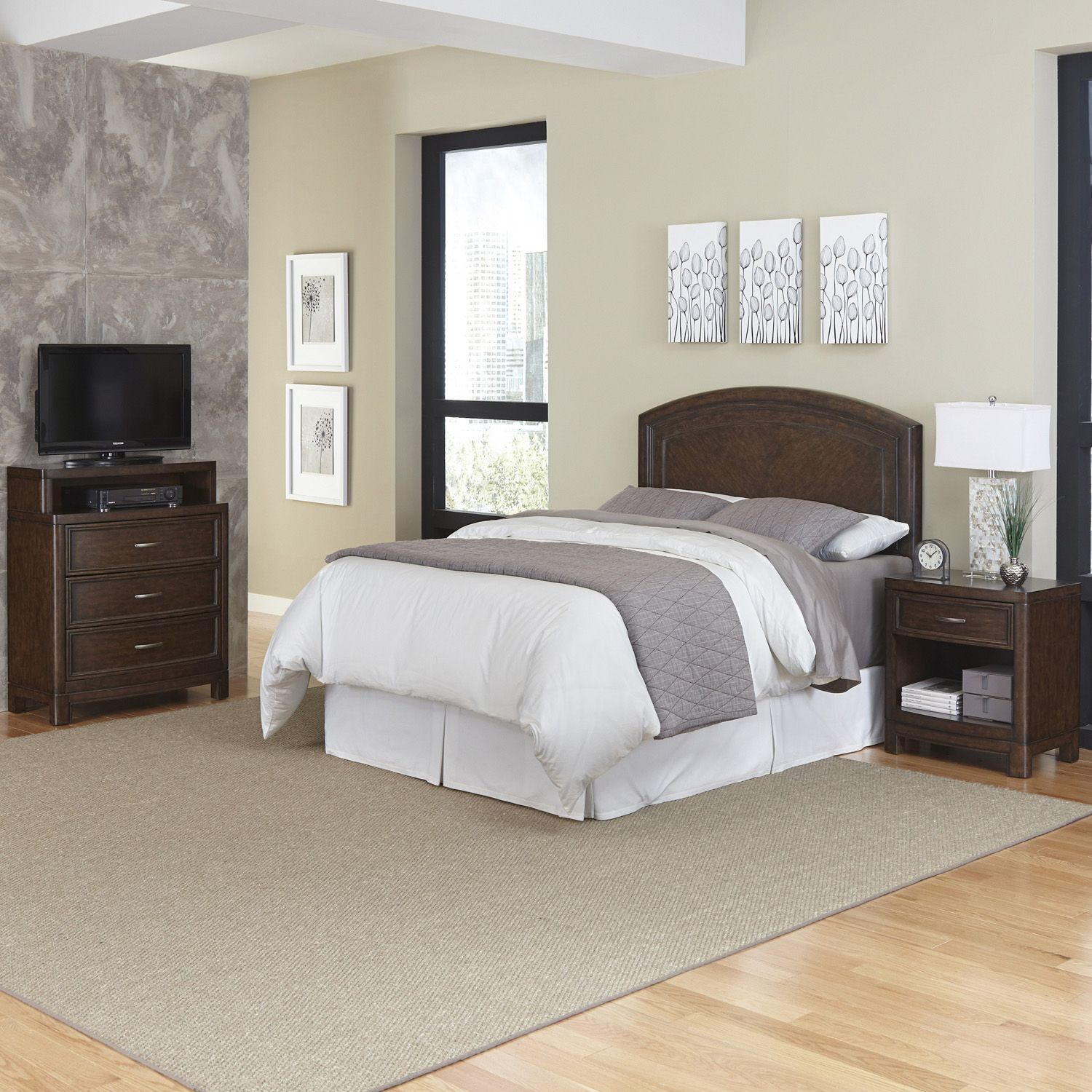 Home Styles Crescent Hill 3 Piece Bedroom Set
