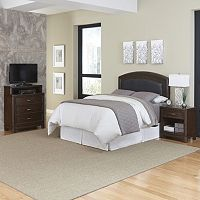 Home Styles Crescent Hill 3 pc Brown Bedroom Set