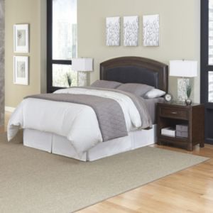 Home Styles Crescent Hill 3-piece Leather Headboard and Night Stand Set