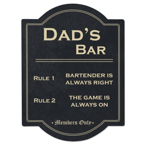 Cathy's Concepts Dad's Bar Sign
