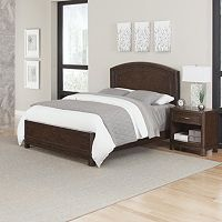 Home Styles Crescent Hill 2 pc Bed and Nightstand Set