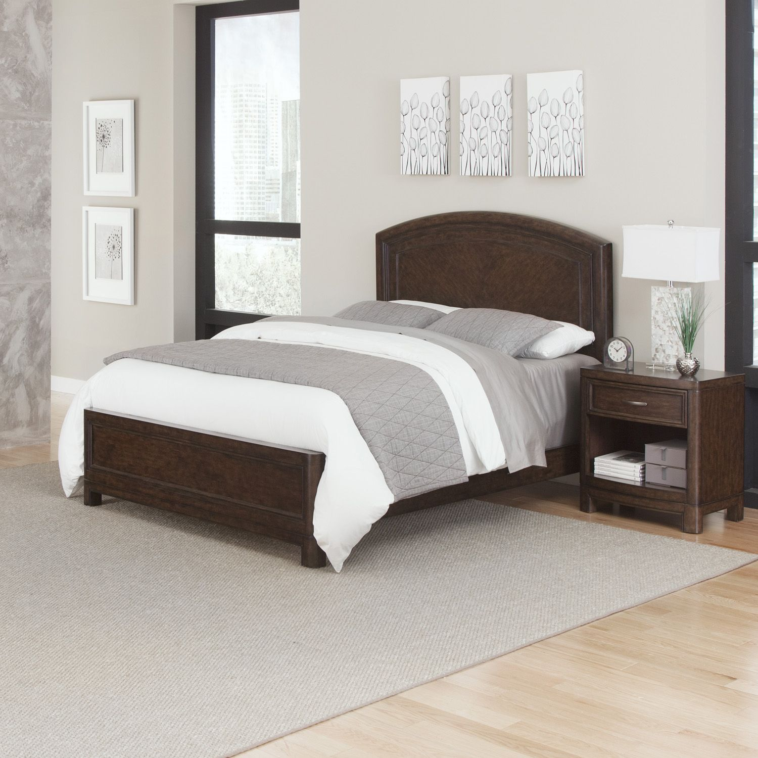 Fancy Home Styles Crescent Hill piece Bed and Nightstand Set
