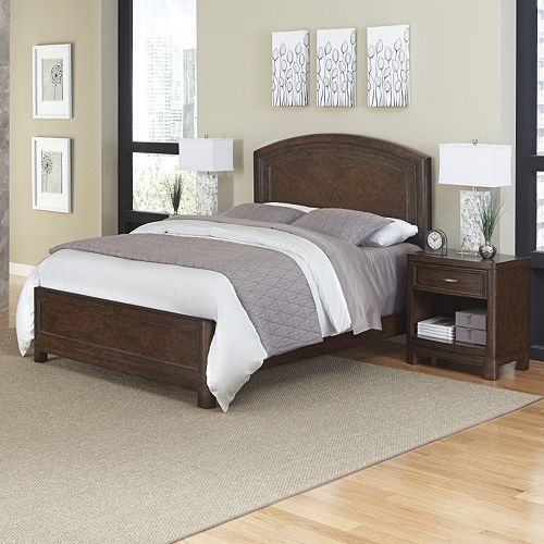 Home Styles Crescent Hill 3-piece Bed and Two Nightstands Set
