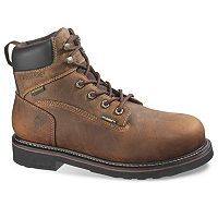 Wolverine Brek Men's Waterproof Steel-Toe 6-in. Work Boots