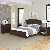 Home Styles Crescent Hill 4 pc Bed, Two Nightstands, and Drawer Set