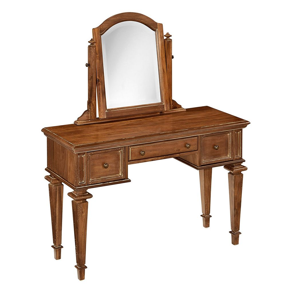 Home Styles Americana Vintage 2-piece Vanity & Mirror Set