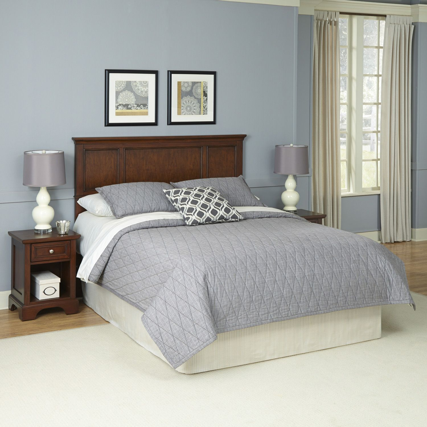 Spectacular Home Styles piece Chesapeake Headboard and Nightstand Set