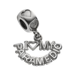 LogoArt Sterling Silver 'I Love My Paramedic' Charm