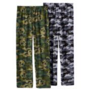 Up-Late 2-Pack Skull & Camouflage Pajama Pants - Boys 8-20