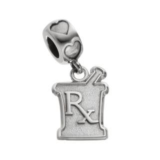 "LogoArt Sterling Silver ""Rx"" Mortar & Pestle Pharmacist Charm"