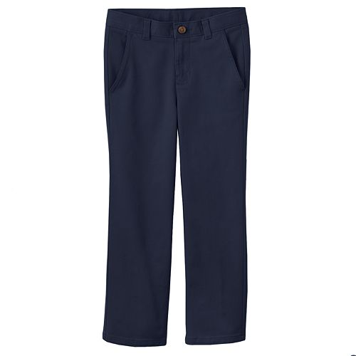 Boys 4-7 Chaps School Uniform Flat Front Twill Pants