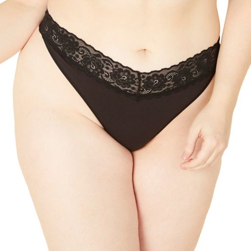 Plus Size COSABELLA Amore Adore Lace-Trim Thong Panty ADORE0341P