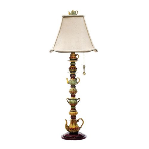 Dimond tea service candlestick led table lamp