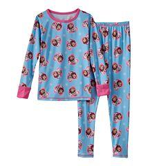 Disney's Frozen Anna & Elsa Toddler Girl Comfortech Long Underwear Set by Cuddl Duds
