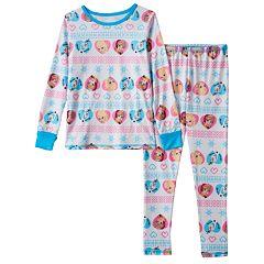 Disney's Frozen Anna, Elsa & Olaf Toddler Girl Fairisle Long Underwear Set by Cuddl Duds