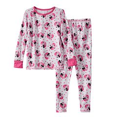 Disney's Minnie Mouse Toddler Girl Comfortech Long Underwear Set by Cuddl Duds