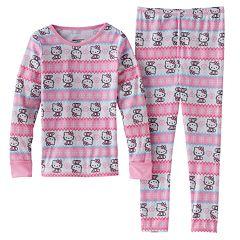 Toddler Girl Hello Kitty® Fairisle Pajama Set by Cuddl Duds