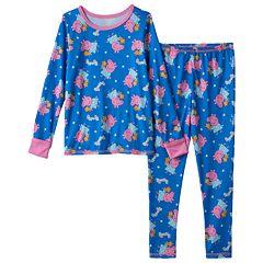 Toddler Girl Peppa Pig Long Underwear Set by Cuddl Duds