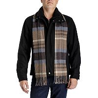 Men's Tower by London Fog Wool-Blend Hipster Jacket with Plaid Scarf