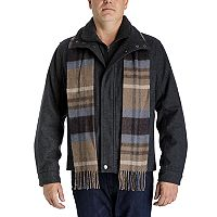 Men's Towne Wool-Blend Hipster Jacket With Plaid Scarf